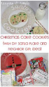 santa u0027s cookies recipe christmas cake cookies with diy santa