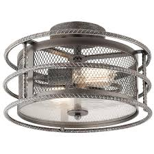 Kichler Lighting Lights by Shop Kichler Lighting Ramida 14 33 In W Antique Steel Metal Semi