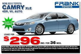 toyota cars for lease 2012 toyota camry specials san diego county ca car frank