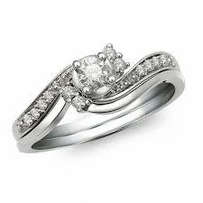 white gold bridal sets 1 4 ct t w diamond bridal set in 10k white gold bridal sets