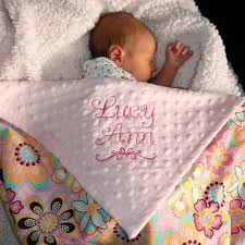engraved blankets baby embroidered baby blanket baby girl blanket flower crystals and
