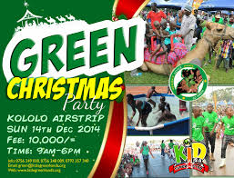 green christmas party 2014 little hands go green