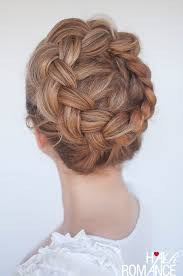 plait at back of head hairstyle new braid tutorial the high braided crown hairstyle hair romance