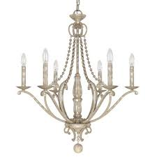 Bellacor Chandelier Capital Lighting Fixture Company Adele Silver Quartz Six Light