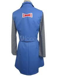 dragon ball android 18 halloween cosplay costume uniform cloth
