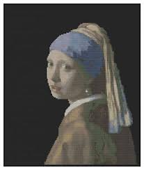 vermeer pearl earring vermeer s girl with a pearl earring cross stitch kit by florashell
