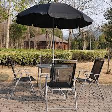 Patio Umbrella Set by Outsunny 6pc Outdoor Patio Umbrella Set Garden Bistro Yard