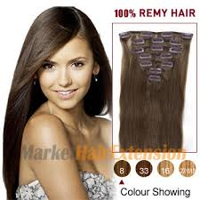 remy hair extensions clip in hair extensions 16 ash brown 8 7pcs clip in indian