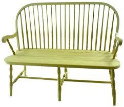 Antique Windsor Bench Amish Round Spindle Windsor Bench Windsor F C Bench And Room