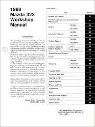 1988 mazda 323 hatchback and sedan repair shop manual original