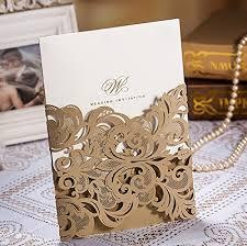 wedding invitations dubai doris home change gold laser cut lace flower
