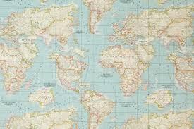 Map Fabric Blue Worldmap Fabric Cotton U0026 Polyester Map Pattern World Globe