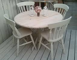 exciting shabby chic round dining table and chairs 90 on small