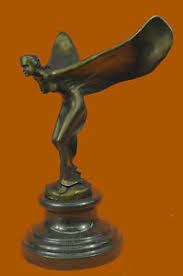rolls royce ornament cast bronze flying spirit of