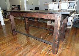 Reclaimed Wood Bar Table Custom Reclaimed Wood Farmhouse Industrial Pub Height Table By