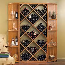 furniture diamond bin with dual quarter round shelf wine cellar