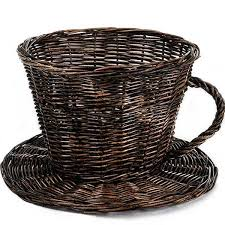coffee baskets coffee cup basket set of 10 10 x 7 in suppliesforgiftbaskets