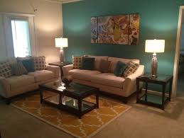 outstanding brown and teal living room design u2013 brown and blue