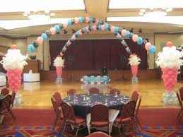 brave birthday party decorating with mesh and butterflies for