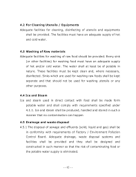 how must food be kept in a steam table food safety and standards regulations 2010