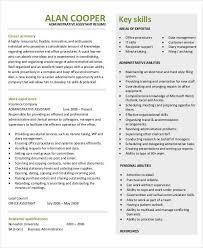 Sample Executive Assistant Resumes by 38 Sample Resume Templates Free U0026 Premium Templates