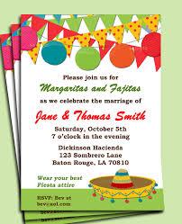 attire wording invitation wording mexican fiesta invitation ideas