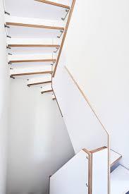 treppen dortmund treppe aus baubuche paneel x mit tiefmatter weißer oberfläche