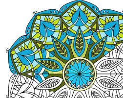 mandala coloring adults flower mandala mindful