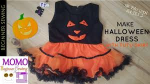 how to make halloween dress with tutu skirt youtube