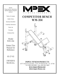 impex wm 354 user manual 12 pages