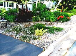 lava rock landscaping ideas with cool patio and gravels