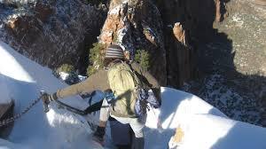 descending s landing zion national park thanksgiving day