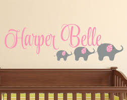 Wall Name Decals For Nursery Name Etsy