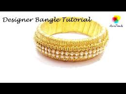 how to make designer bangle at home easily and quickly tutorial