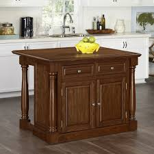 home styles monarch kitchen island with optional stools hayneedle