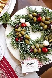 New Year Food Decoration by Christmas Wreath Appetizer U2013 Cheap Snack Food Recipe For Happy New