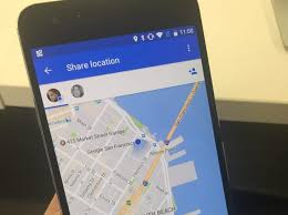 maps will let you your location with friends and family