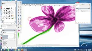 gimp 2 8 tutorial how to draw and colorize a flower youtube