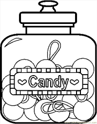 candy coloring pages candyjar2bw coloring page free candy coloring pages