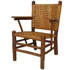 Sale Armchair Old Hickory Woven Armchair With Paddle Armrests For Sale At 1stdibs