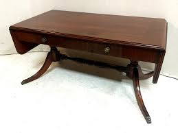 Drop Leaf Coffee Table Duncan Phyfe Drop Leaf Mahogany Coffee Table With Drawers 275