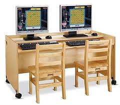 Kid Computer Desk Childrens Computer Desks Dual Computer Desk Locking Casters