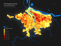 Population Map Population Density In West Coast Us Cities A Comparison U2013 Nick M
