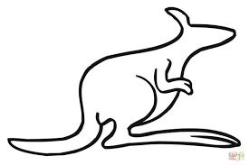 coloriage contour de kangourou coloriages à imprimer gratuits