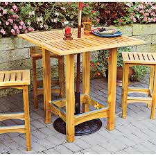 Bistro Patio Table Bistro Patio Table And Stools Woodworking Plan From Wood Magazine