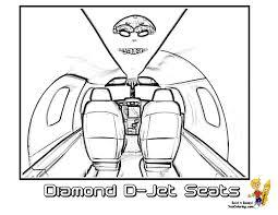 cool diamond jet airplane seats print