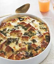 egg strata casserole sausage egg and kale strata recipe real simple