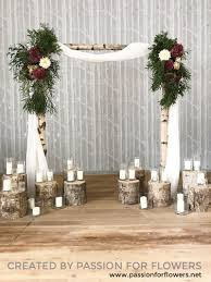 wedding arch log log ceremony arch for flowers