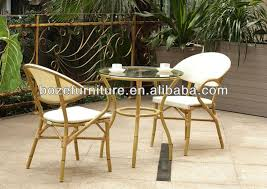 Bamboo Patio Set by Bamboo Like Patio Furniture Outdoor Patio Chairs And Table Patio