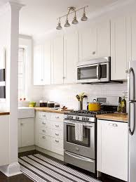 Small Kitchen With White Cabinets Small White Kitchens